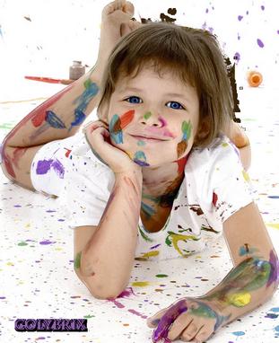 Défi fillette et peintures Enfant13