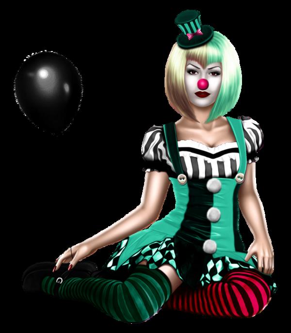 Défi du 11-12 Novembre / Femme clown Topfem15
