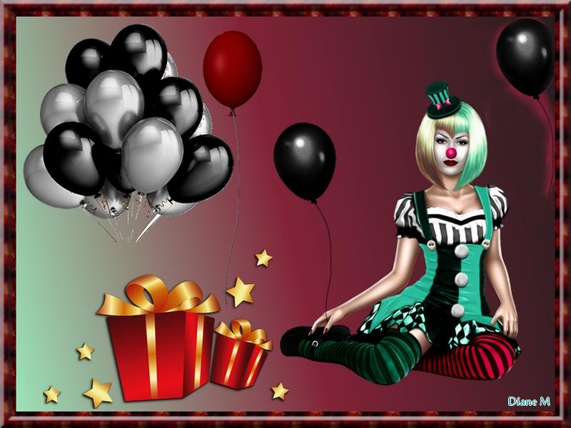 Défi du 11-12 Novembre / Femme clown Topfem29