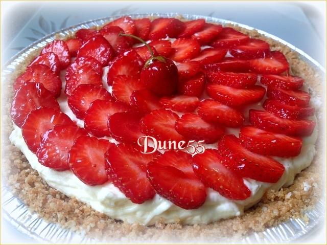 Tarte aux fraises vanille-amande Sahquv10