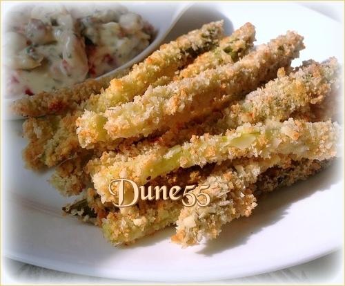 Pointes d'asperges croustillantes au parmesan  - Sauce Aïoli citron et tomates séchées Tuy5sh10