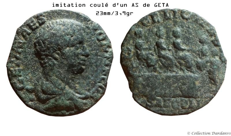Les As coulés de Marc Aurèle à Caracalla - Page 4 Geta10