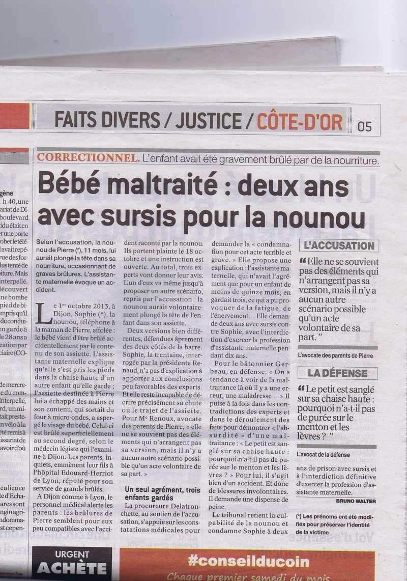 Dijon bébé maltraité : 2 ans de sursis pour la nounou Ccf03011