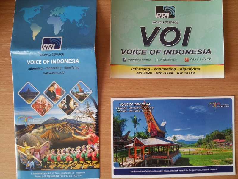 QSL de Voice of Indonesia 20150810