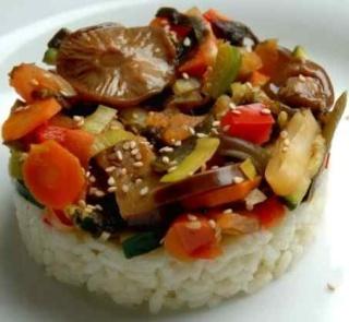 Salteado de verduras con arroz Saltea10