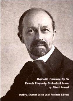 الرابسودى الفلمنكية من اعمال البرت روسيل مصنف رقم 56  Flemish Rhapsody  5124ft10