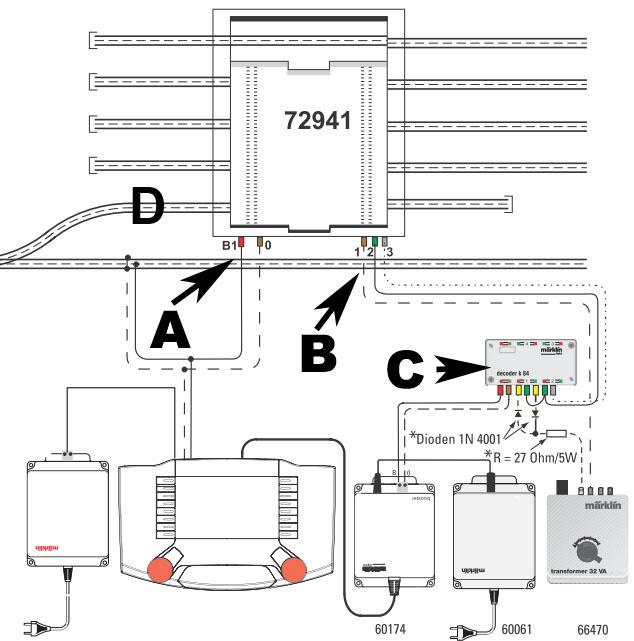 Commande pont transbordeur Märklin avec Arduino et télécommande infrarouge Cablag10