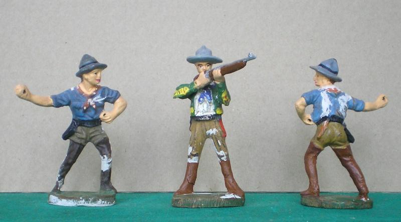 Bemalungen, Umbauten, Modellierungen - neue Cowboys für meine Dioramen 080c_n10