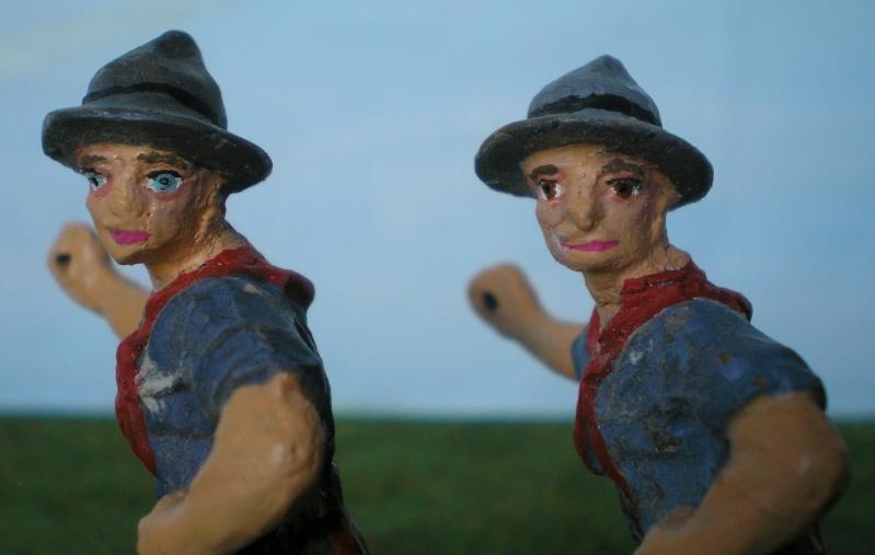 Bemalungen, Umbauten, Modellierungen - neue Cowboys für meine Dioramen 080d1b10