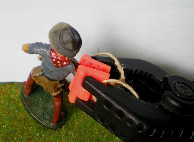 Bemalungen, Umbauten, Modellierungen - neue Cowboys für meine Dioramen 180r3a10