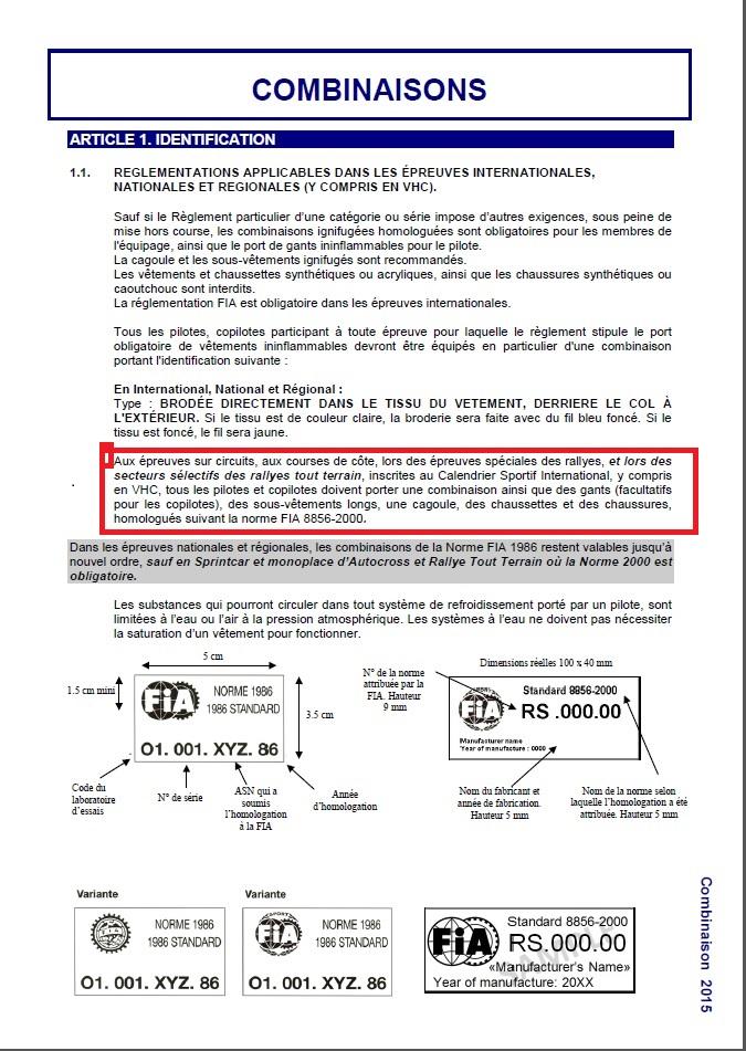 reglementation securite pilote (vetement) Reglem12
