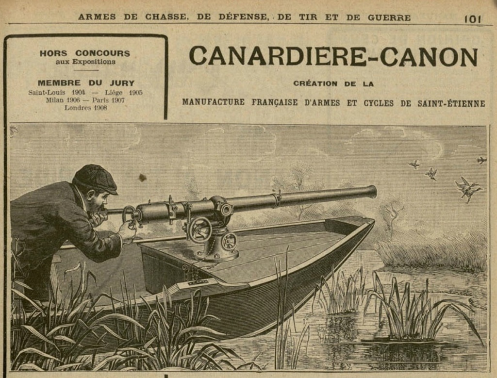 présentation de ma Canardière cal 4 (marque Darne?) Canard10