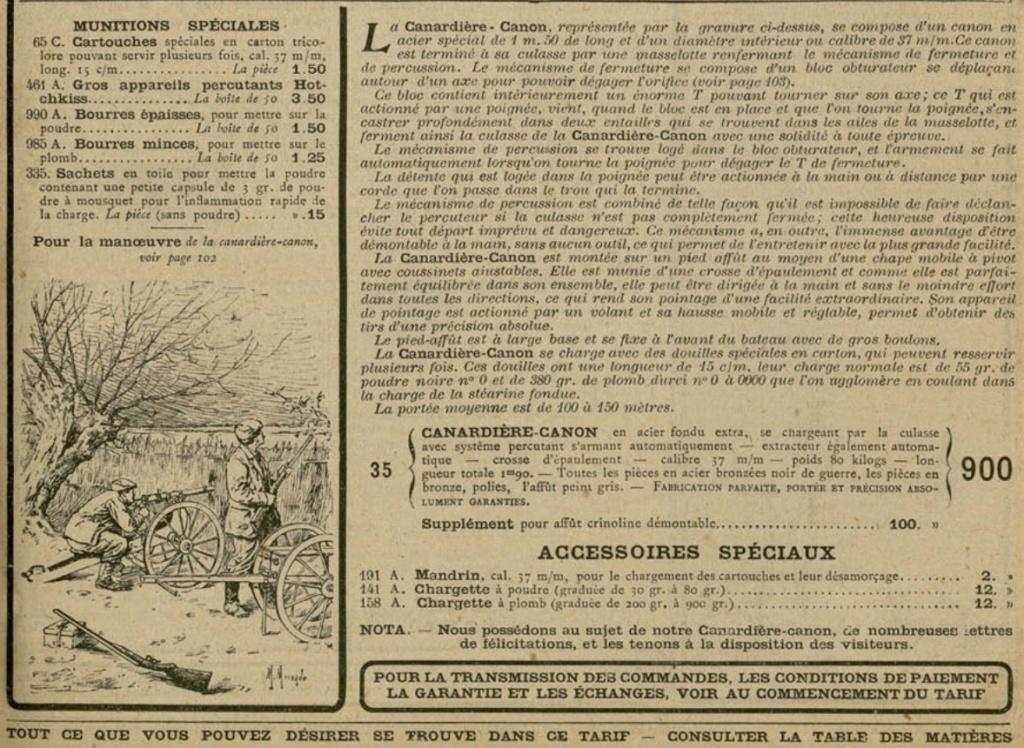 présentation de ma Canardière cal 4 (marque Darne?) Canard11