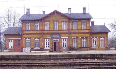 Привислинскийая железная дорога - Lignes ferroviaires du royaume de Pologne. Gare_d10