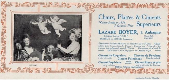 """Bouches du Rhone - Plomb de scelle """"Lazare Boyer Aubagne - Ciment Valentine"""". Lazare10"""
