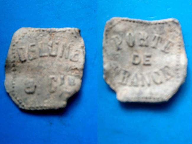 """Isere - Plomb de scelle """"Delune & Compagnie – Porte de France"""". Plomb290"""