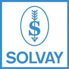 Plomb de scelle avec le logo de la firme SOLVAY. Solvay14