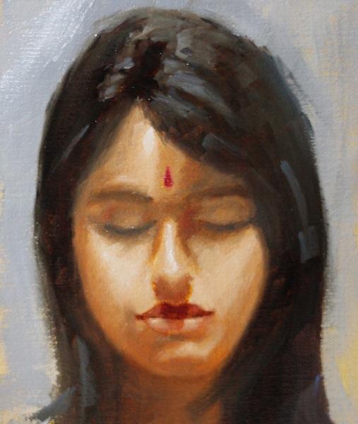 Painting #115: Red Bindya Red_bi10