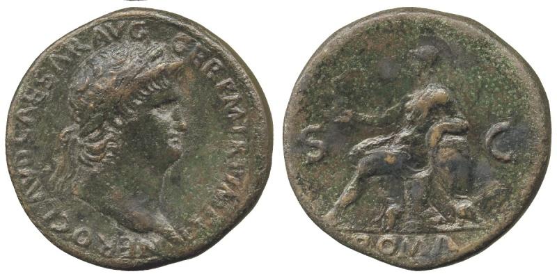 Bronzes antiques regravés : avant - après Nero11