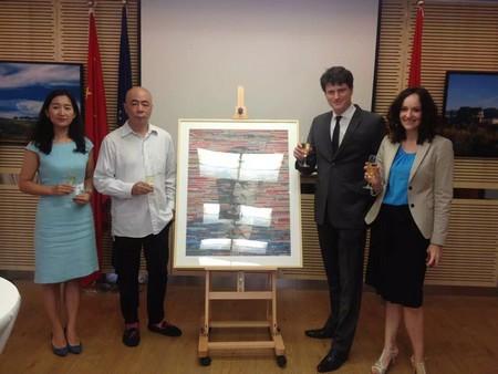 Portrait du Grand Duc du Luxembourg par Wu Jun au Consulat de Shanghai Lux310