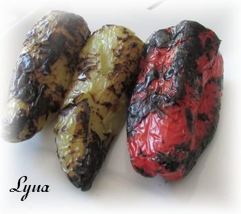 Piments bananes doux, grillés sur bbq Poivro10