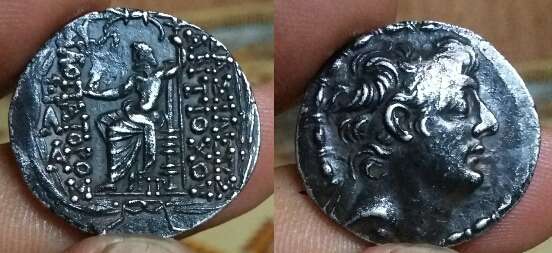 Séleucides tetradrachme d'Antiochos IX Philopator Picsar20