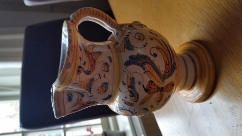 Faience jug, possibly Deruta Italy  20150817