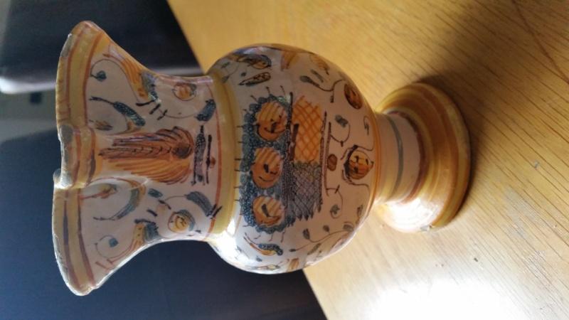 Faience jug, possibly Deruta Italy  20150818