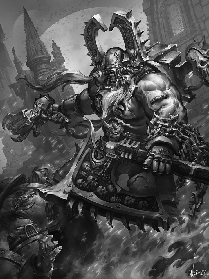 [W40K] Collection d'images : Space Marines du Chaos - Page 13 Kharn10