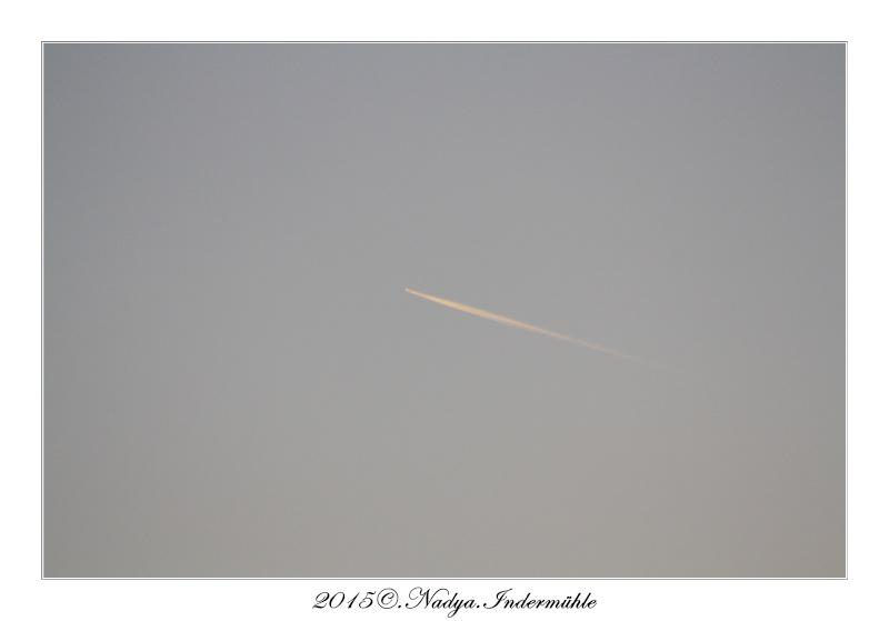Les traînées d'avion, contrail  Cadre154