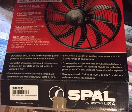 "2 Spal Puller 12"" fans brand new for sale Spal_f10"