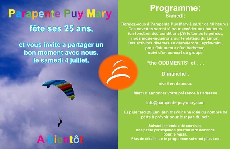 Parapente Puy Mary - 25 ans - 4 et 5 aout 2015 Puy_ma10