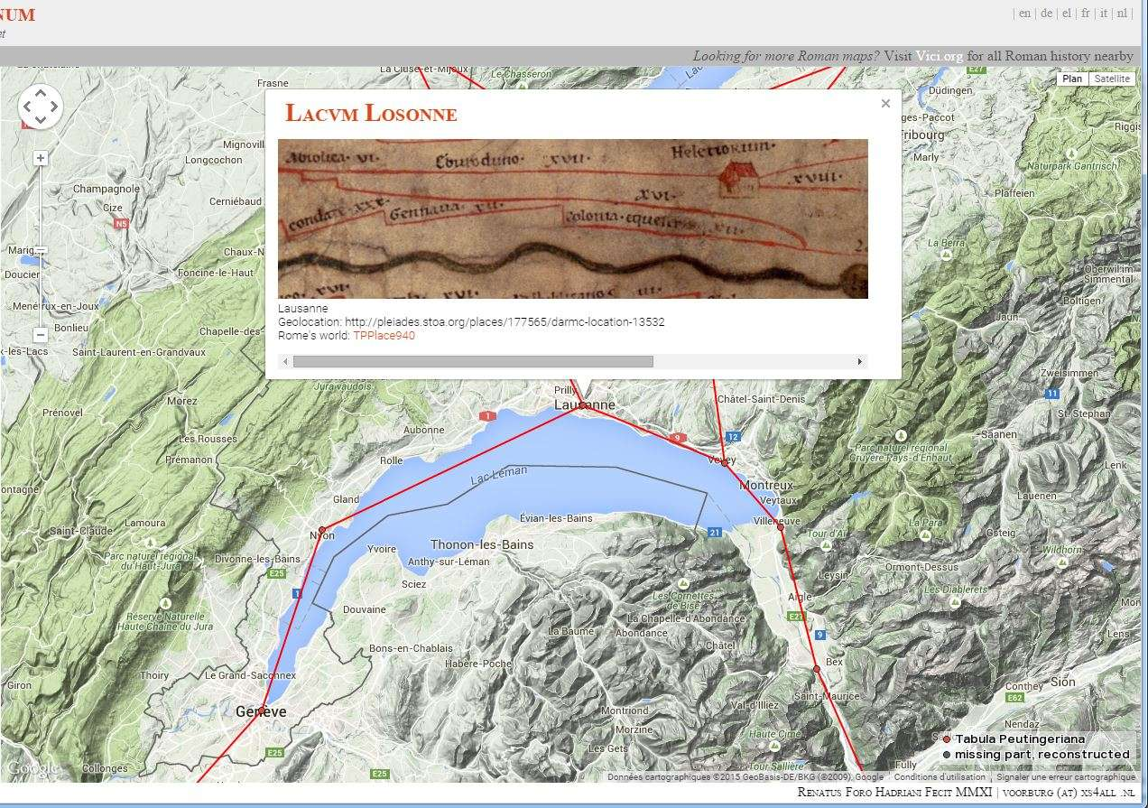 Google itinéraire par les ......voies romaines:OmnesViae: Itinerarium Romanum Voie_r10
