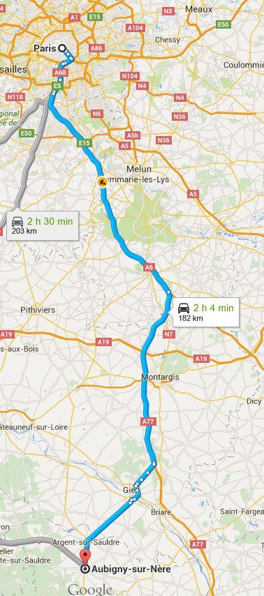 COVOITURAGE DE PARIS A AUBIGNY SUR NERE(18) pour un groenendael Frisso13