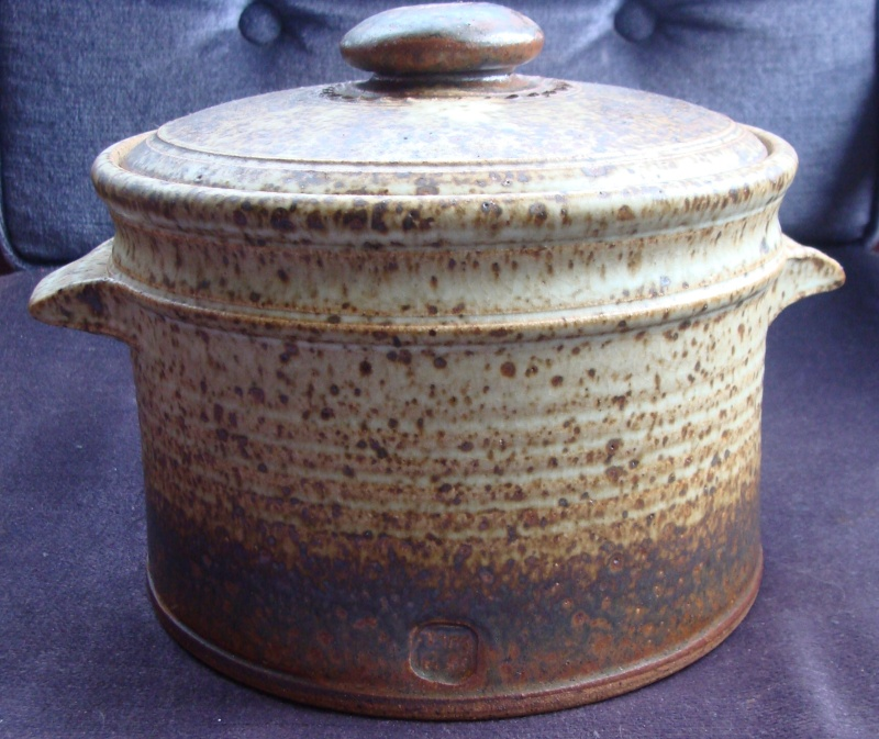 Substantial lidded casserole with glazed over mark Dsc05532