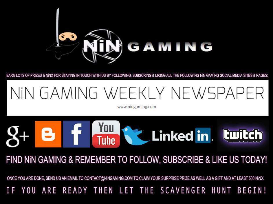 EARN 500 NiNX BONUS EASY via THE NiN GAMING SCAVENGER HUNT EVENT Scaven11