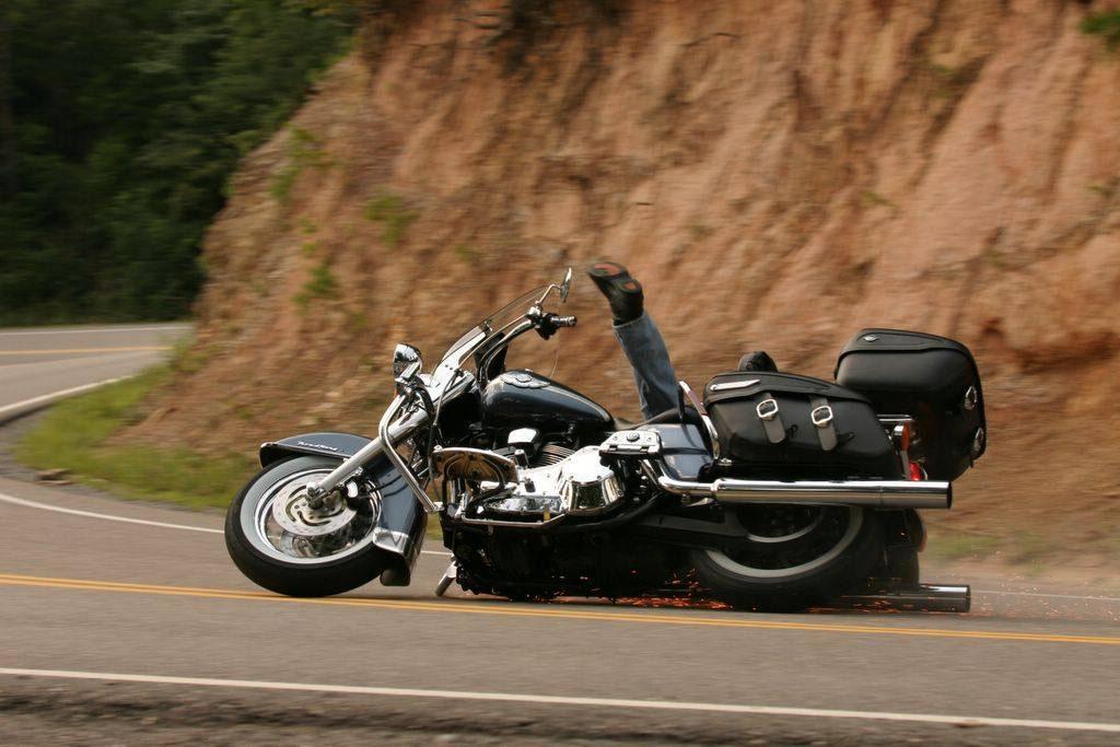 comment vous penchez dans les virages Harley10