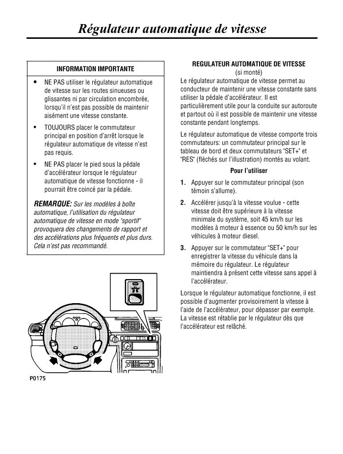 Malfunction of cruise control buttons  - Page 2 Regula10