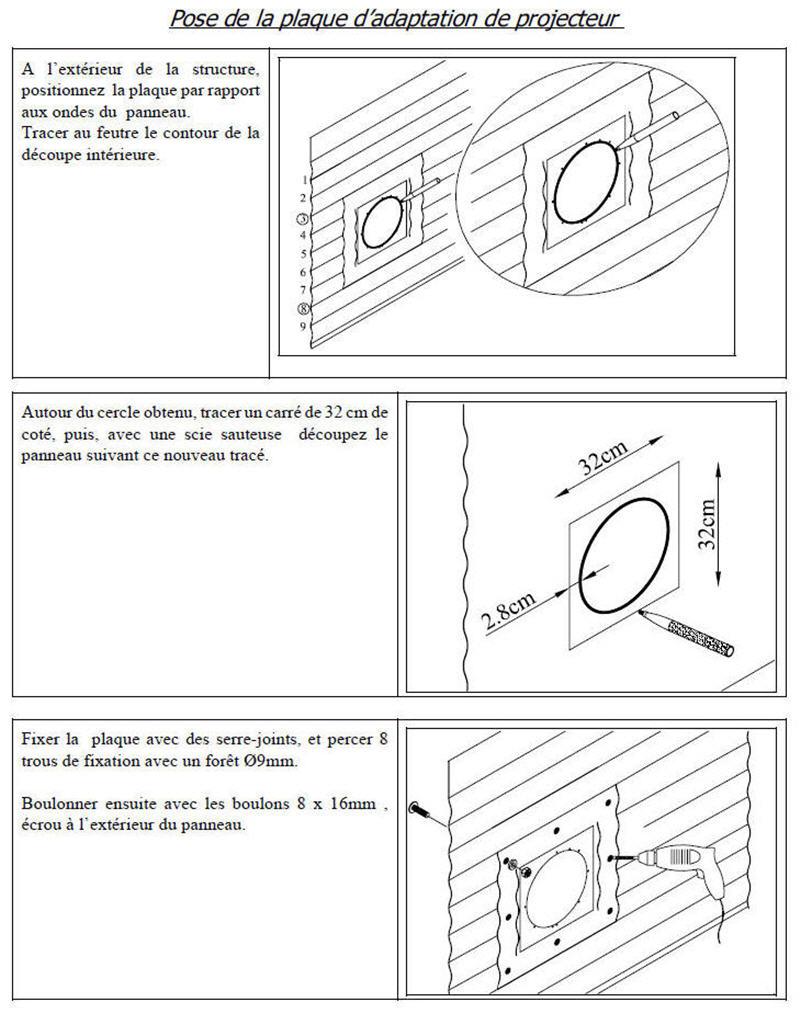 Rénovation Liner : problème projecteur Plaque10