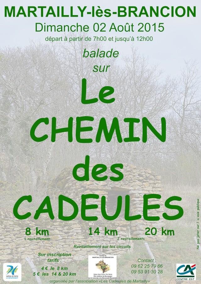 Balade sur le Chemin des Cadeules Affich10