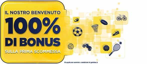 Premio giornata € 10,00,  Bonus € 100,00 offerto da  Goldbet Palermo  11908110