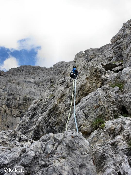 """[Escursionismo verticale] Via """"Alessandra"""" al Piccolo Lagazuoi Ra0510"""