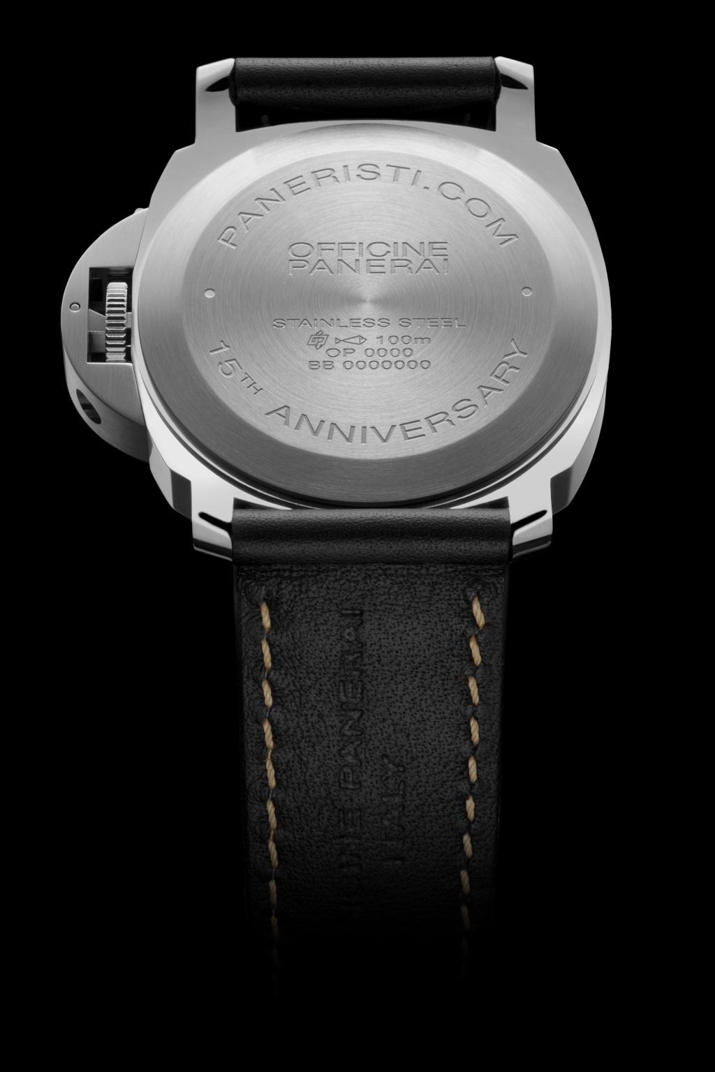 Communiqué de Presse : LUMINOR BASE LOGO ACIER -15th Anniversary Paneristi.com– 44mm - PAM00634 Pam63413