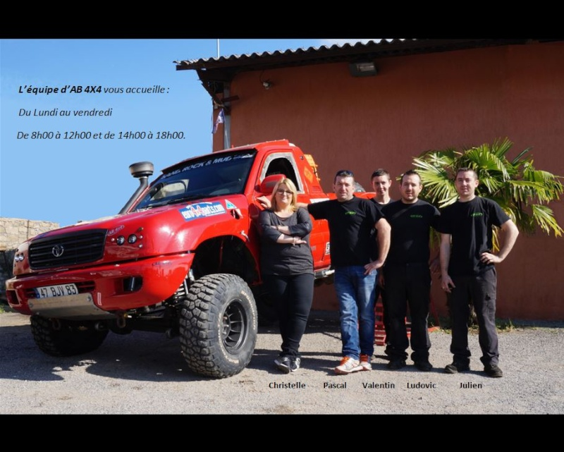 AB 4X4 partenaire de La Team Hummerbox à Le Muy (83490) ; Une adresse varoise pour votre Hummer Equipe10