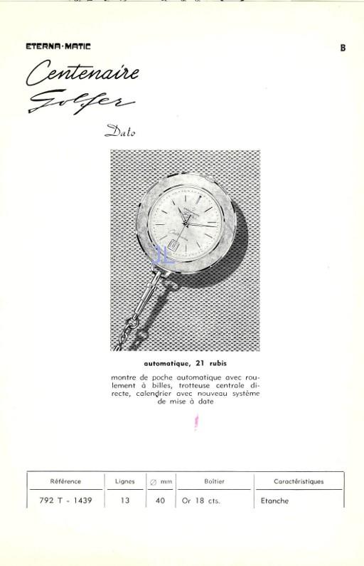 Eterna - Dans un genre différent… Eterna Matic Golfer Eg110