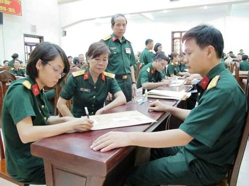 Danh sách 19 trường Quân đội công bố ngưỡng điểm xét tuyển NV1 210