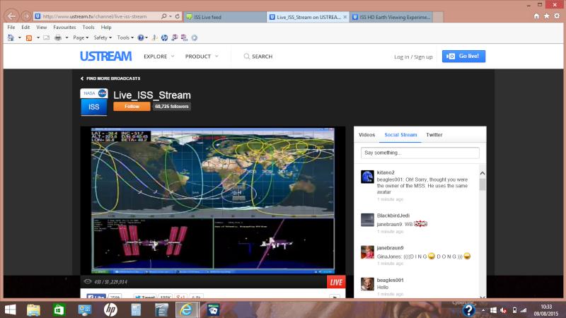 ISS Live feed Screen10