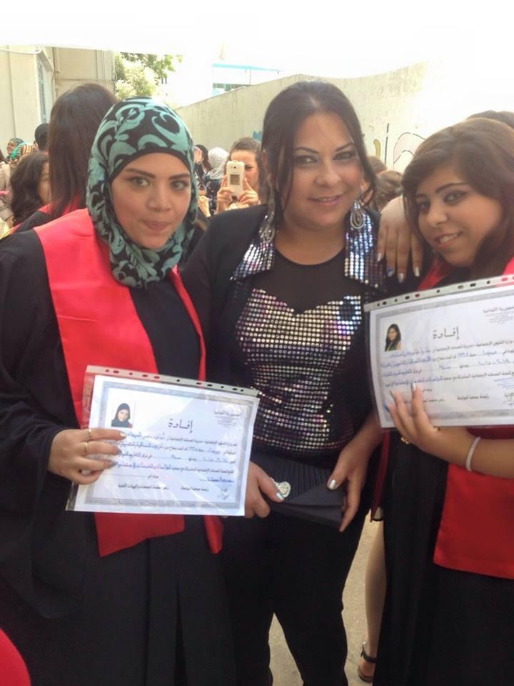 تخريج طالبات  إختصاص تجميل في معهد المواسات - صيدا 11401311