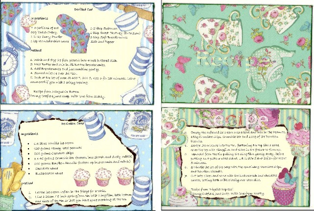 Recipe cards from Scatty Cod_an10