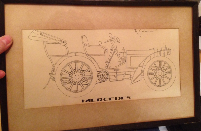 Mercedes drawing by R Gamlin Image40